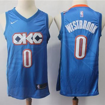 Oklahoma City Thunder 0 Russell Westbrook City Edition Swingman Jersey