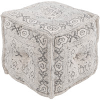 Daveed Pouf ~ White/Charcoal