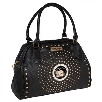 Betty Boop - Circle Betty Black Satchel Purse