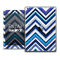 The Sharp Navy and White Chevron Skin for the iPad Air