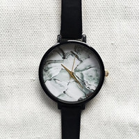 Women Watches, Marble Watch, Minimalist Watch, Wrist Watch, Leather Watch, Marble Jewelry, Modern Jewelry, Unique Watches, Girlfriend Gift,