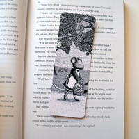 Art Bookmark, Illustrated Woodland Mouse Printed Book Mark 2x5.75 inches, stocking stuffer, stocking filler