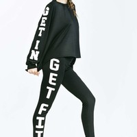 Irena Slogan Sports Leggings