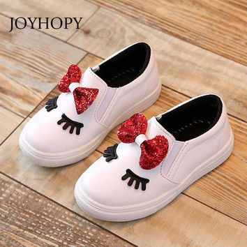 New 2017 children Shoes Cute Cartoon Baby girls boots PU Leather Spring Autumn Winter Kids Sports Shoes