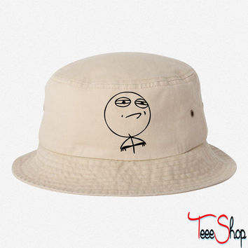Challenge Accepted Meme BUCKET HAT