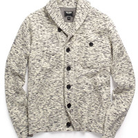Shawl Knit Cardigan in Beige