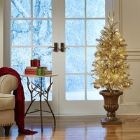 Pre-Lit Gold Pine Entry Tree - 4.5'$159.95
