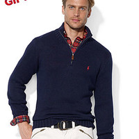 Polo Ralph Lauren Sweater, Half-Zip Mock Neck High-Twist Cotton Pullover