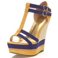Willa Yellow Rafia Wedge - Wedges  - Shoes  - Miss Selfridge