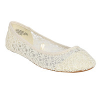 Crochet Floral Ballet Flat | Shop Shoes at Wet Seal