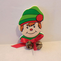 Christmas Elf Refrigerator Magnet Holiday Kitchen Home Decor