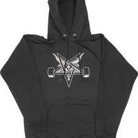 Thrasher Blackout Hoodie/Sweater Small Black/White