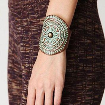 Grecian Leather Cuff Bracelet