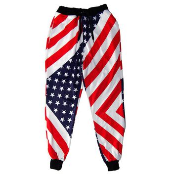 LiZhiYang 3D print Men Women Funny casual American flag Sweat Pants Fashion Clothes Sweatpants Autumn Fall Winter Style Trousers