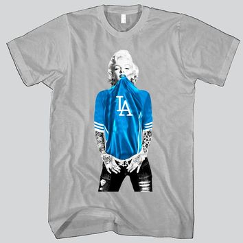 Marilyn Monroe LA Dodgers T-shirt Sports Clothing