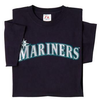 Seattle Mariners (ADULT 3X) 100% Cotton Crewneck MLB Officially Licensed Majestic Majo