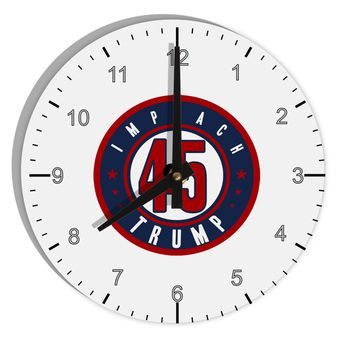 "Impeach Trump 8"" Round Wall Clock with Numbers by TooLoud"