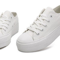 Canvas Platform Sneakers