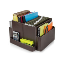 Brown Folding Desk Organizer