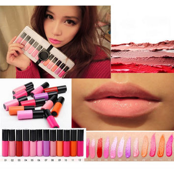 Trendiest Multi-Color Mini Moist Lip Gloss Waterproof Long Lasting Matte Liquid Lipstick