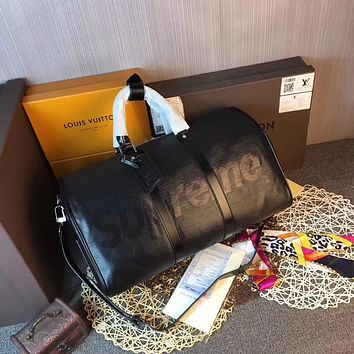 LV SUPREME LEATHER TRAVEL BAG