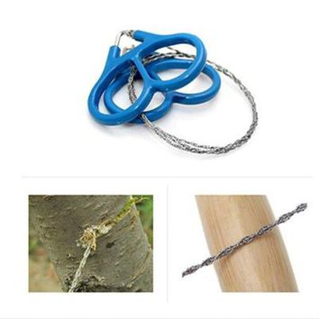 ONETOW Ring Steel Wire Saw Scroll Plastic Emergency Hand Chain saw Chain Rope Saw Hunting Camping Hiking Travel Survival Tool 1Pcs