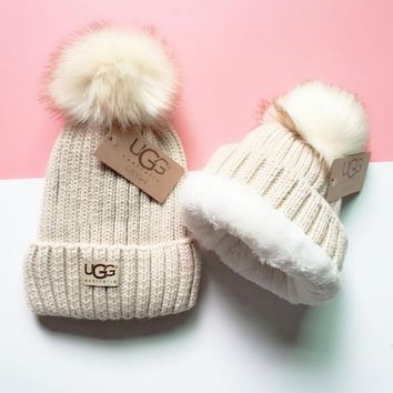 UGG Knit And Pom Hat Cap-13