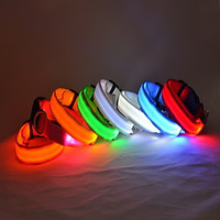 [NewYearSale]9Protecollar - Adjustable Night Safety Double-Sided LED Dog Collar (Assorted Colors) - Default
