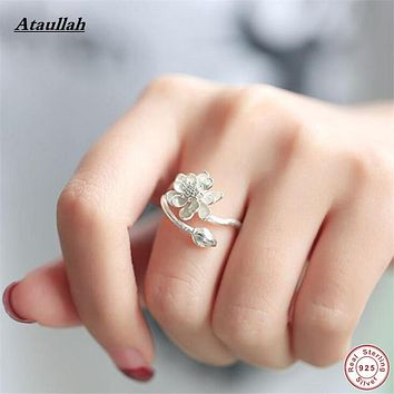 Ataullah 14 Styles 925 Sterling Silver Rings for Women Luxury Silver 925 Ring Certificate Adjustable Girl Ring RWD834