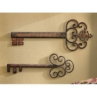 Decorative Antique Look Vintage Wall Keys By Collections Etc