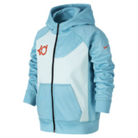 Nike KD Performance Hero Full-Zip Preschool Boys' Basketball Hoodie Size 4 (Blue)