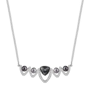 Swarovski FANTASTIC Necklace, Grey Crystal & Pearls -5230612