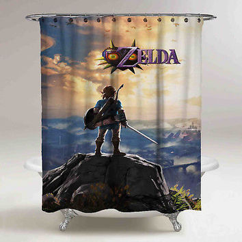 New The Legend Of Zelda Breath Of The Wild High Quality Custom Shower Curtain