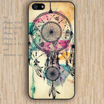 iPhone 5s 6 case watercolor dream catcher colorful phone case iphone case,ipod case,samsung galaxy case available plastic rubber case waterproof B583