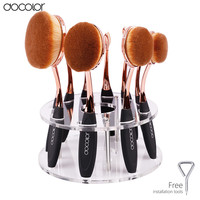 Hot oval makeup brushes 10pcs brush set professional makeup brushes set toothbrush make up brushe holder with retail Box