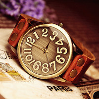 Men's Wrist Watch Leather Band (WAT0045)