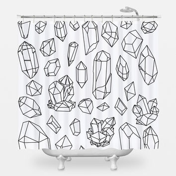 Gems Collection Shower Curtain