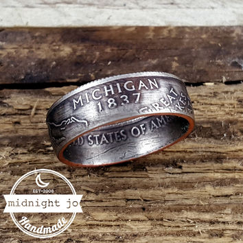 Michigan State Quarter Coin Ring
