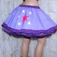 MLP Twilight Sparkle Applique Circle Skirt Adult ALL Sizes - MTCoffinz
