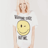 EVERYONE SUCKS Boyfriend Tee