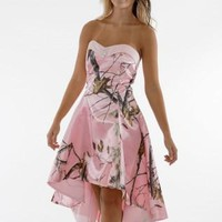 sweetheart realtree pink camo prom dress  2017 short  front long back party dresses custom make plus sizes free shippi