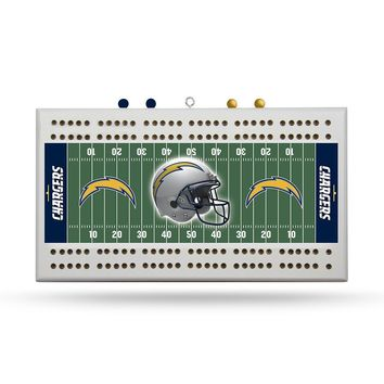 San Diego Chargers NFL Cribbage Board