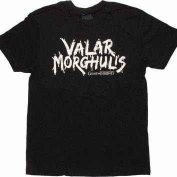 "Game Of Thrones VALAR MORGHULIS ""ALL MEN MUST DIE"" T-Shirt NWT 100% Authentic"