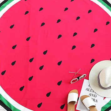 Summer Beach Holiday Watermelon Beach Blanket