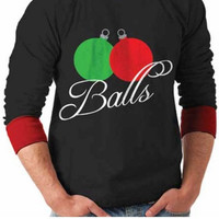 Plus Size Ornament Balls Ugly Christmas Sweater
