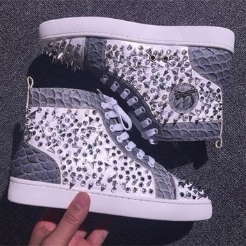 Cl Christian Louboutin Pik Pik Style #1990 Sneakers Fashion Shoes