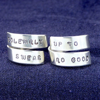 Solemnly Swear Up to no Good - Best Friends - Harry Potter - Wrap Ring Set