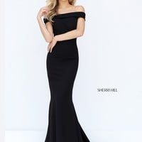 Sherri Hill 50824 Off The Shoulder Formal Prom Dress
