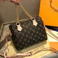 LV Fashion Women Shopping Bag Monogram Leather Handbag Tote Shoulder Bag Crossbody Satchel