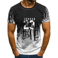 Summer Hot Man's Jordan 23 T Shirts  Men Camouflage O-neck Fashion Printed 23 Hip-Hop Tee Camisetas Men Clothing Casual Top